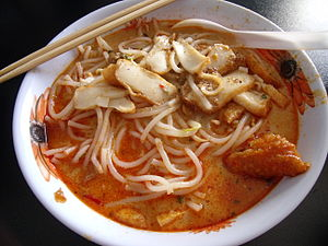 Laksa - Curry laksa sold in Bukit Batok, Singapore