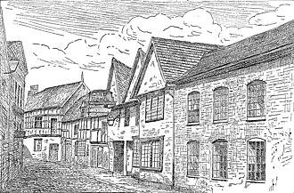 Lamb Hotel, Nantwich - Lamb Hotel before 1861