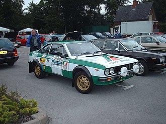 Simo Lampinen - Lampinen's Lancia Beta Coupé of the 1975 RAC Rally.