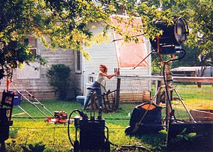 Laura Leighton - Laura Leighton shoots a scene for the film In the Name of Love: A Texas Tragedy.