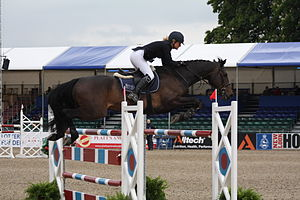 Royal Windsor Horse Show - Laura Renwick competing in 2009