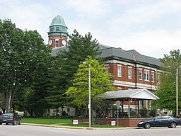 Lawrence County Courthouse in Lawrenceville from the southwest.jpg