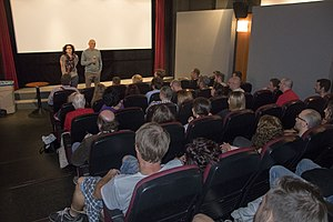 Lazar Ristovski - Lazar Ristovski presenting the film Train Driver's Diary at the Prague Independent Film Festival in 2017