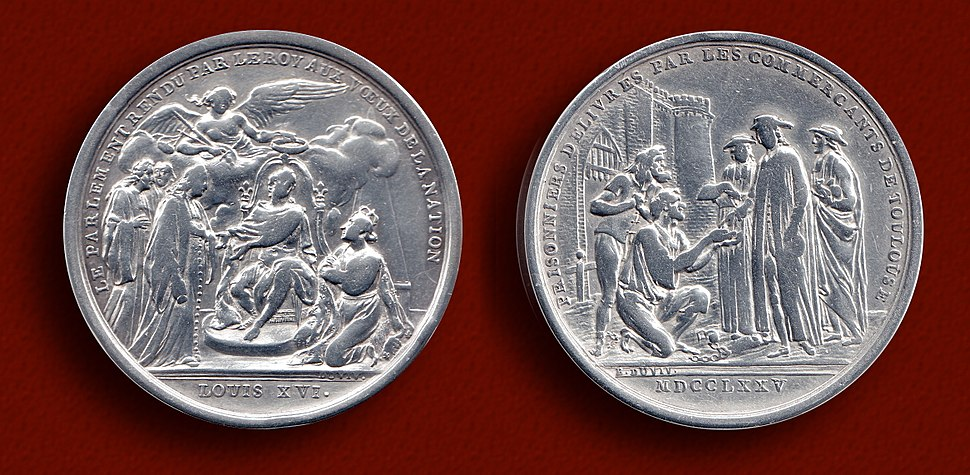 Le Couronnement de Louis XVI 1775 Silver Medallion