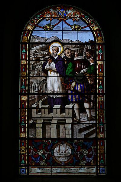 Our Lady of the Assumption's church in Le Mêle-sur-Sarthe (Orne, Normandie, France).