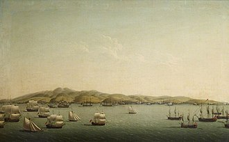 Invasion of Martinique (1762) - Image: Le bombardement et la prise de la Martinique en février 1762 par les Anglais