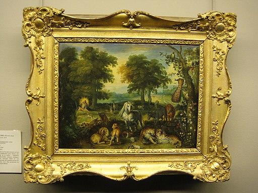 Le paradis terrestre avec la création d'Ève - par Jan Brueghel le Jeune