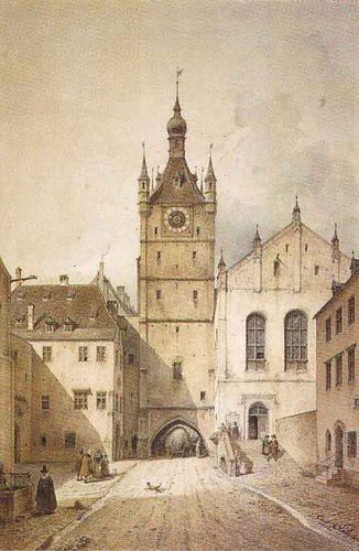 B Hmler Im Tal M Nchen talburgtor mit altem rathaus carl august lebschée 1853
