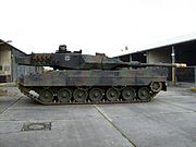 German Army Leopard 2A6M that incorporates systems designed to be used in conjunction with a networked battlefield