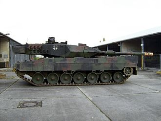 Network-centric warfare - German Army Leopard 2A6M that incorporates systems designed to be used in conjunction with a networked battlefield