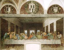 """L'Ultima Cena di Leonardo da Vinci, anche conosciuta come """"Cenacolo Vinciano"""""""