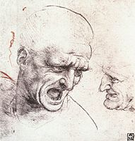 Leonardo da vinci, Head studies for the battle of anghiari.jpg