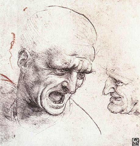 Etude de tête de Leonard de Vinci