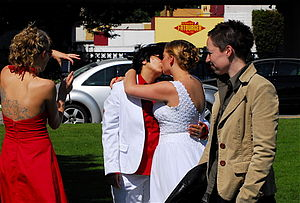 Lesbian wedding near English Bay.