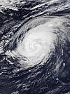 Satellite image of Hurricane Leslie