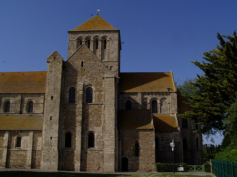 Abbaye de Lessay située dans le département de la Manche (France)