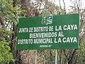 Letrero verde enfrente de La Caya.JPG