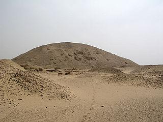 Pyramid of Senusret I smooth-sided pyramid