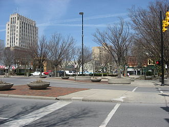 Lima, Ohio - Public Square in downtown Lima