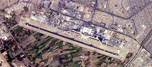 Luftbild vom Flughafven in Lima