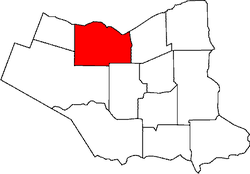 Location of Lincoln within Niagara Region