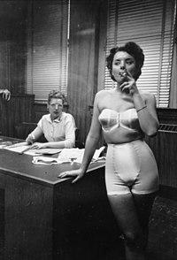 Lingerie model smoking in an office 3d02388u.jpg