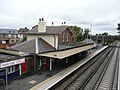 Liphook Railway Station Main Building from the footbridge in Liphook, Hampshire, England.jpg