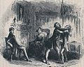 Little Dorrit, Mr Flintwinch receives the embrace of friendship, by Phiz.jpeg