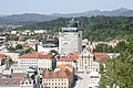 Ljubljana, view from the castle hill to the Ursuline Church.JPG