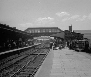 Llanelli riots of 1911 - Llanelli railway station, pictured in 1971, was where the strike originated.