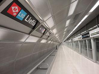 Barcelona Metro line 10 - Llefià