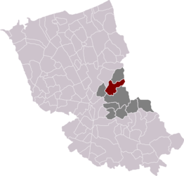 Winnezeele in the arrondissement of Dunkirk