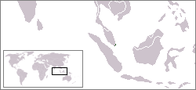 A map showing the location of Singapore