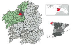 Situation of Oza-Cesuras within Galicia