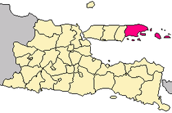 Location in Madura