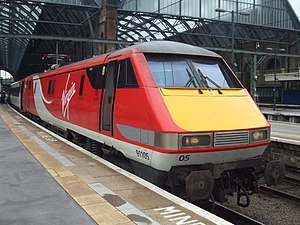 British Rail Class 91 - Virgin Trains Class 91 Locomotive at King's Cross