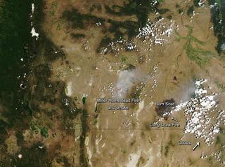 Long Draw Fire Wildfire in Oregon