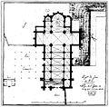 Longpont (91), basilique N.D. de Bonne Garde, plan en 1815.jpg