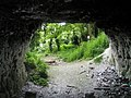 Looking out of the cave into Candy's Pit - geograph.org.uk - 1286512.jpg