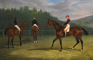 Variation (horse) - The start of the Goodwood Gold Cup, 1931, Lord Chesterfield's Priam, His Majesty King William IV's Fleur De Lis, and mr Stonehewer's Variation (John Frederick Herring, Sr., 1831)