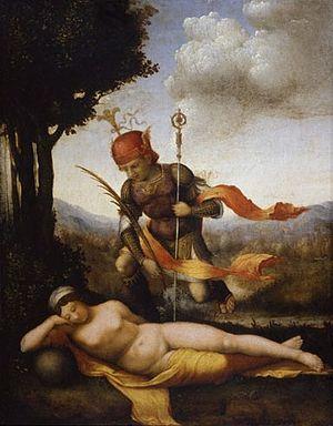 Lorenzo Leonbruno - Lorenzo Leonbruno. 1522-23. Sleeping Nymph. Uffizi, Florence.