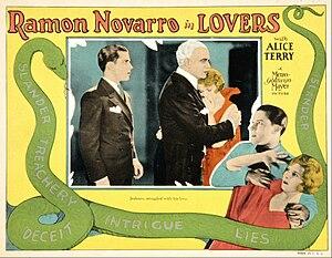 Lovers (1927 film) - Lobby card