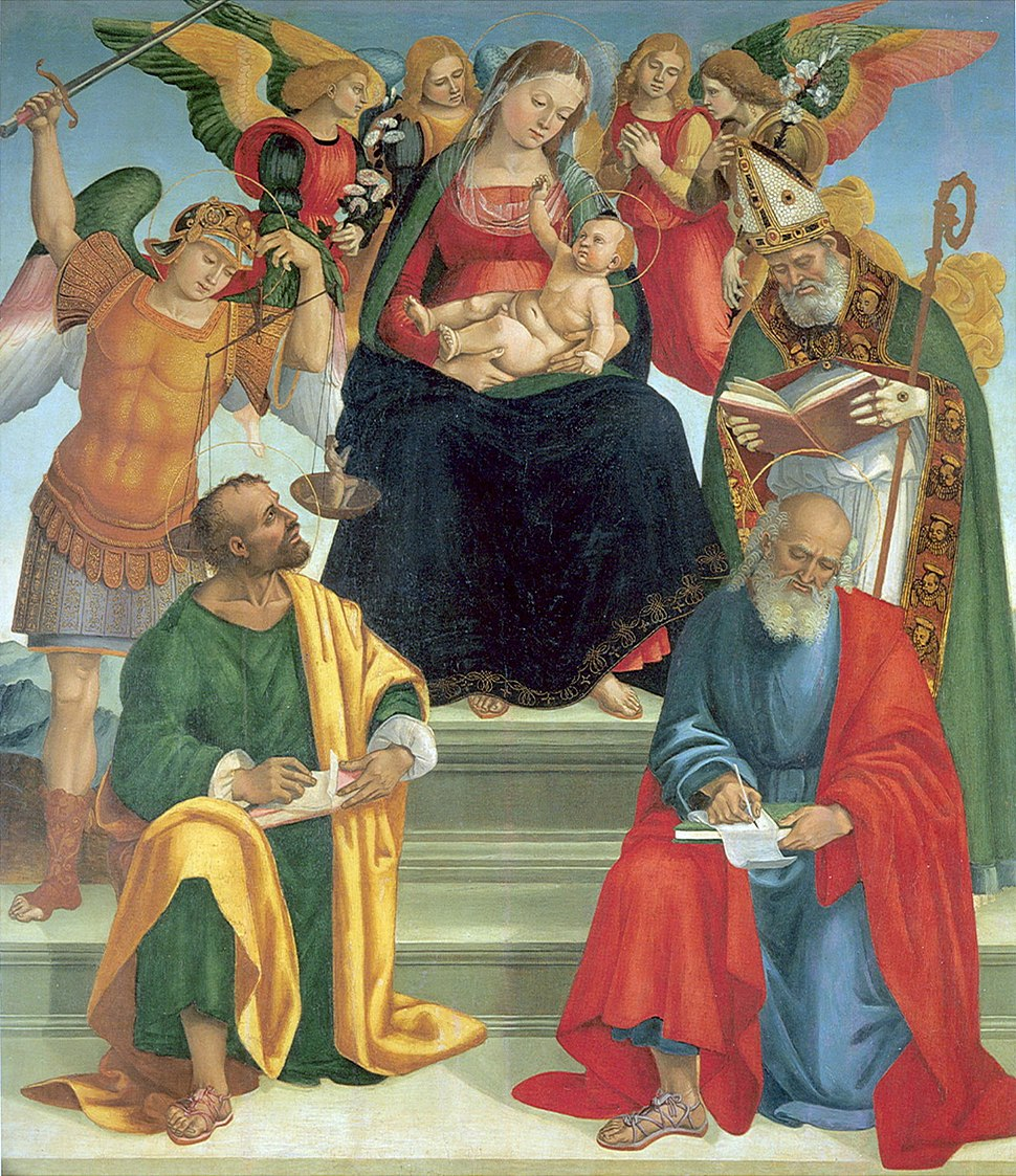 Luca Signorelli Madonna and Child with Saints and Angels