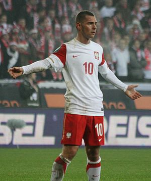 Ludovic Obraniak - Obraniak playing for Poland in 2010