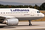 Lufthansa Airbus A320-214 (D-AIUG) coming in from Warsaw (WAW) @ Frankfurt Airport (FRA).jpg