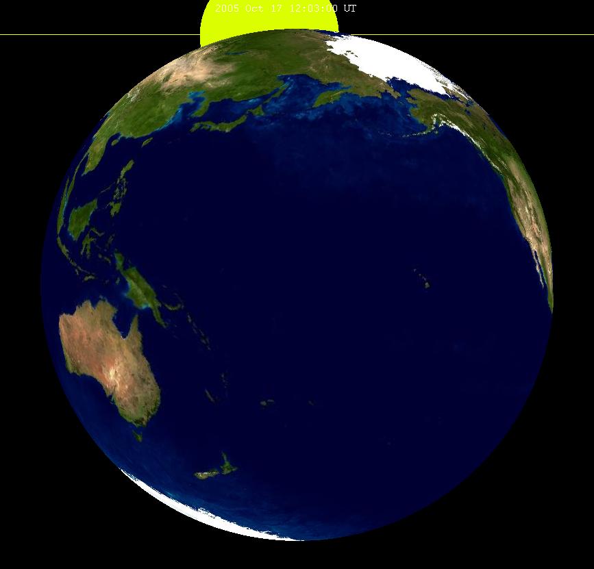 Lunar eclipse from moon-2005Oct17
