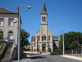 The church of Saint-Albert, in Lunery