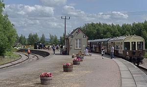 Lydney Junction railway station - Image: Lydney Junction railway station MMB 04 5521