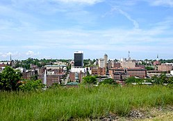 Downtown Lynchburg skyline.