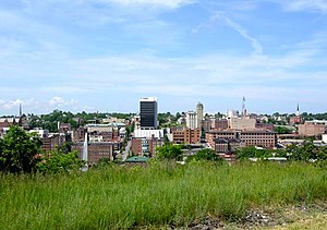 Downtown skyline of Lynchburg, Virginia, USA